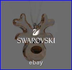 Swarovski Crystal NIB Gingerbread Reindeer Christmas Ornament Lmtd 2020 Edition