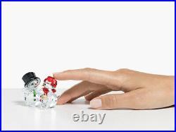 Swarovski Crystal NIB Snowman Family 2020 Christmas Figurine #5533948 SOLD OUT