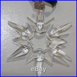 Swarovski Crystal Ornament 211987 no box 1997 Christmas Snowflake