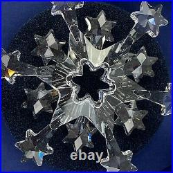 Swarovski Crystal Ornament Christmas 2004 Snowflake Large With Box 2S1