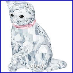 Swarovski Crystal Pink Cat Mother Figurine Decoration 5465836