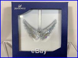 Swarovski Crystal Rare Angel Wings Christmas Ornament 5004494 MIB WithCOA
