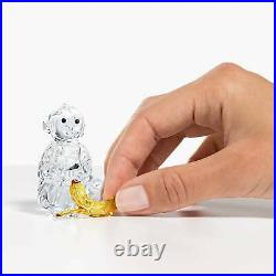 Swarovski Crystal Rare Encounters Monkey with Banana Decoration Figurine 5524239