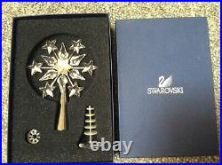 Swarovski Crystal Rhodium Snowflake Shooting Stars Christmas Tree