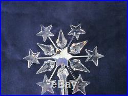 Swarovski Crystal Rhodium Snowflake Shooting Stars Christmas Tree Topper No Box