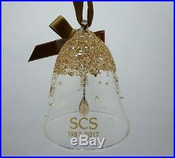 Swarovski Crystal SCS Jubilee Gift 2017 Christmas Bell Ornament 5295582
