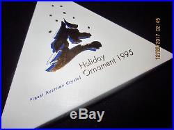 Swarovski Crystal Snow Flake Christmas Ornament With Box 1995