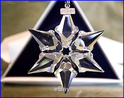 2f714e748f75 Swarovski Crystal Snowflake 2000 Annual Christmas Tree Ornament NIB MINT