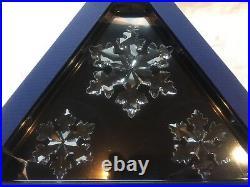 Swarovski Crystal Snowflake Christmas Tree Decoration 2016 Set 3 Large Small New