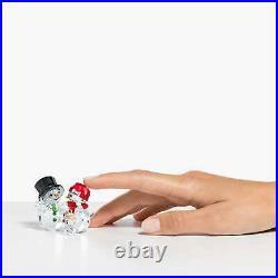 Swarovski Crystal Snowman Family Figurine Decoration 5533948