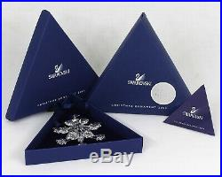Swarovski Crystal Star Snowflake 2004 Christmas Ornament Rockefeller Center MIB