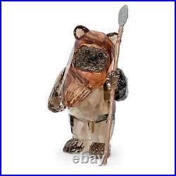 Swarovski Crystal Star Wars Ewok Wicket Figurine Decoration, Brown, 5591309