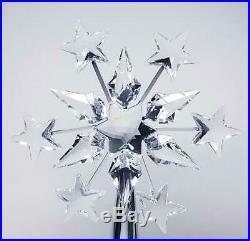 Swarovski Crystal Tree Topper Christmas Snowflake Shooting Stars Rhodium Plate