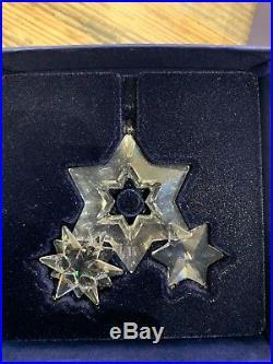 Swarovski Crystal Twinkling Stars Christmas Ornament 863438 MIB WithCOA RARE