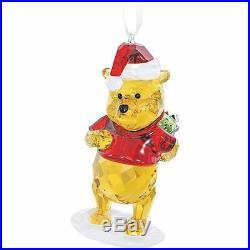 Swarovski Crystal Winnie The Pooh Christmas Ornament, NIB