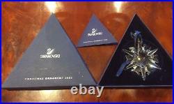 Swarovski Cut Glass Crystal Large Christmas Star Ornament Snowflake Boxed