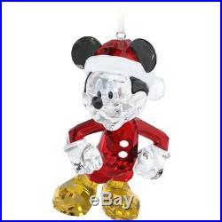 Swarovski Disney Figurine Mickey Mouse Christmas Crystal Figurine 6.2cm x 6.9cm