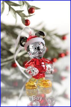 Swarovski Disney Mickey Mouse Christmas Crystal Figurine