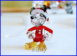 Swarovski Disney Mickey Mouse Christmas Ornament 5004690 Brand New In Box