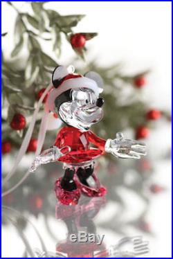Swarovski Disney Minnie Mouse Christmas Crystal Figurine ornament