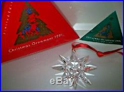 Swarovski European Christmas Ornament 1991 Box Cert 1st Ltd Edition