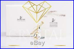 Swarovski Figurine Crystal Christmas Memories Gold Ornaments Violin 235895