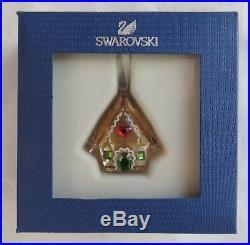 Swarovski Gingerbread House Crystal Christmas Ornament 5395977 Brand New Mib