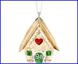Swarovski Gingerbread House Ornament #5395977 Brand Nib Crystal Christmas F/sh