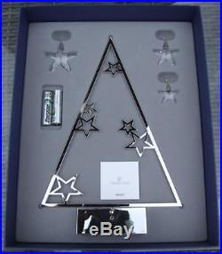 Swarovski LED Christmas Tree Display + Crystal Ornaments 5064271 Lights up! NEW