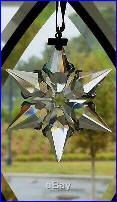 Swarovski RARE Crystal 2000 Millennium Star Snowflake Christmas Ornament
