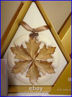 Swarovski SCS 2014 Gold Christmas Ornament #5059027 Brand New