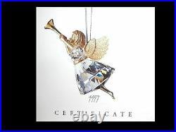 Swarovski Silver Crystal 1997 Angel Hanging Ornament Christmas- 211085 Mint