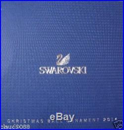 Swarovski Silver Crystal Christmas Ball Ornament 2014 Annual Edition 5059023