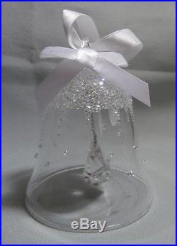 Swarovski Silver Crystal Christmas Bell Ornament 2015 Annual Edition 5136362