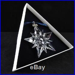 Swarovski Silver Crystal Christmas Ornament 2001 Annual # 267 941 Very Rare