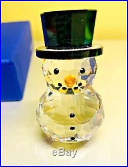 Swarovski Snowman w Hat Crystal Christmas Ornament #5135852 NIB