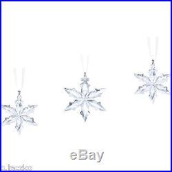 Swarovski Star Ornament Christmas Annual Crystal Snowflake 2015 Set Large Little