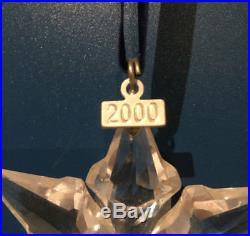 Swarovski star crystal ornament 2000 Christmas Xmas snowflake