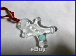 TIFFANY & CO. Crystal Christmas Snowman Ornament Limited Very Rare New Unused