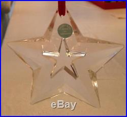 TIFFANY & CO. Crystal Star Christmas Holiday Ornament with pouch Free Ship withBIN