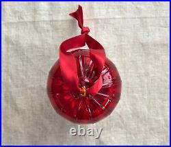 TIFFANY & CO. Red Thame Crystal Glass ball Holiday Christmas Ornament