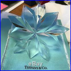 TIFFANY & Co. Crystal Snowflake Star Christmas Ornament with Box