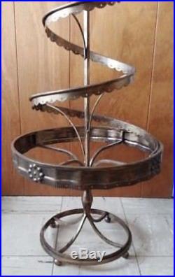 Tall Metal Christmas Tree Spiral Display for Christmas Ornaments Crystals Etc