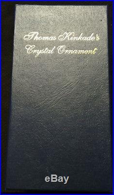 Thomas Kinkade's Crystal Ornament The Night Before Christmas Very Rare