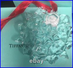 Tiffany & Co. 2011 Snow Flake crystal Ornament 3l x 3w