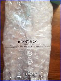 Tiffany & Co 2017 Large Size Etched CRYSTAL CHRISTMAS BALL ORNAMENT NEW IN BOX