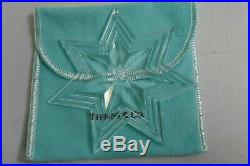 Tiffany & Co. Clear Crystal Star Boxed Christmas Ornament Signed
