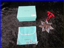 Tiffany & Co Crystal 7 Point Star Christmas Ornament