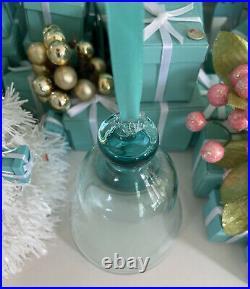 Tiffany&Co Crystal Bell Ornament 2018 Christmas Holiday 4.5 W Box Gift Ready