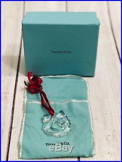 Tiffany & Co. Crystal Christmas Ornament chrystal wreath with bow with Box